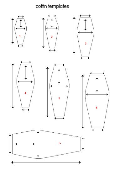 coffin templates coffin blueprints